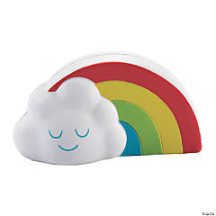 Rainbow with Cloud Slow-Rising Squishies