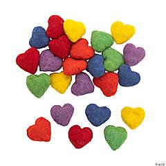Rainbow Wool Felt Hearts