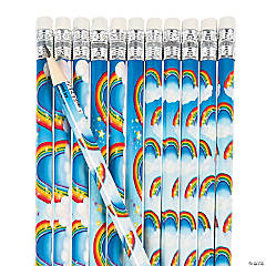 Rainbows & Clouds Pencils - 24 Pc.