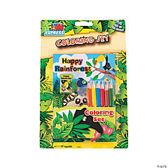 Rainforest Coloring Set