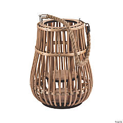 Rattan Natural Lantern with Handle