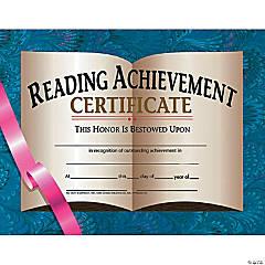 Reading Achievement Certificate, 30 per Pack, 6 Packs