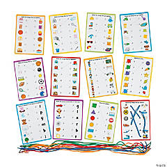 Reading Readiness Lacing Cards