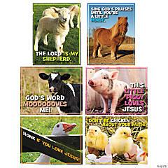 Realistic Barnyard Poster Set