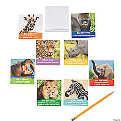 Realistic Safari Animals Notepads