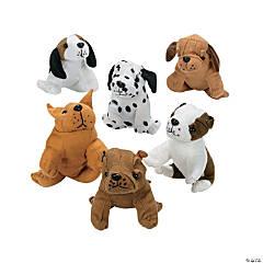 Realistic Stuffed Dogs - 12 Pc.