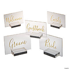 Rectangle Wedding Sign Set