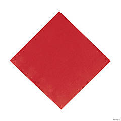"Red 12 7/8"" Paper Napkins (50 pc)"