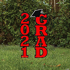 Red 2021 Grad Yard Signs