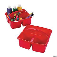 Red 3-Compartment Storage Caddies