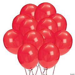 "Red 9"" Latex Balloons"