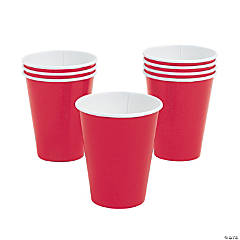 Red 9 oz Paper Cups