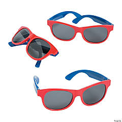 Red & Blue Two-Tone Sunglasses