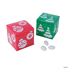 Red & Green Christmas Favor Boxes