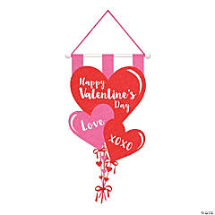 Red & Pink Valentine's Day Hearts Sign