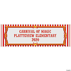 Red & White Carnival Custom Banner - Large