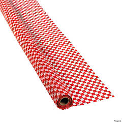 Red & White Checkered Banquet Tablecloth Roll
