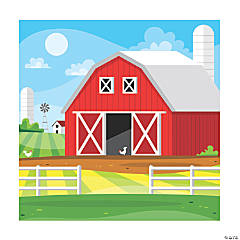 Red Barn Backdrop Banner