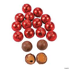 Red Caramel Balls Chocolate Candy