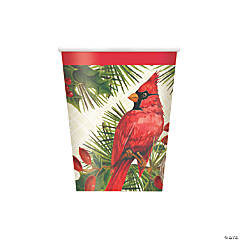 Red Cardinal Christmas Cups