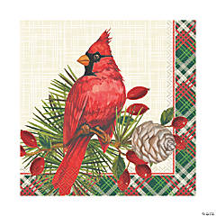 Red Cardinal Christmas Luncheon Napkins