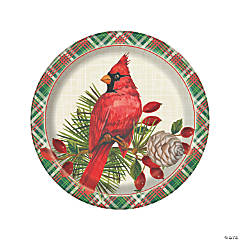 Red Cardinal Christmas Paper Dinner Plates - 8 Ct.