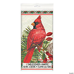 Red Cardinal Christmas Tablecloth