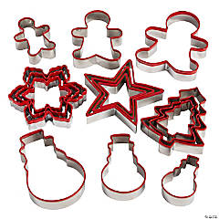 Red Christmas Cookie Cutters