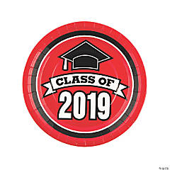 Red Class of 2019 Dinner Plates