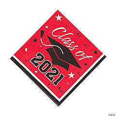 Red Class of 2021 Luncheon Napkins