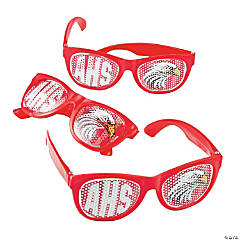 Red Custom Photo Pinhole Glasses