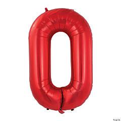 Red Deco Link Mylar Balloon