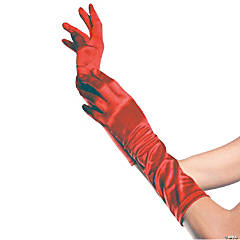 Red Elbow Length Gloves