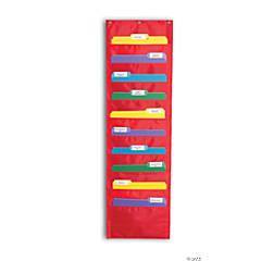 Red File Folder Storage Pocket Chart
