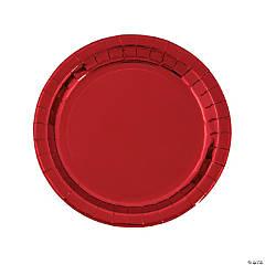 Red Foil Dinner Plates