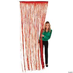 Red Fringe Door Curtain