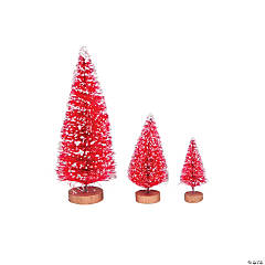 Red Frosted Sisal Tree Assortment