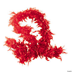 Red Genuine Feather Boas