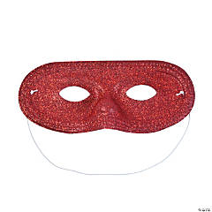 Red Glitter Masks
