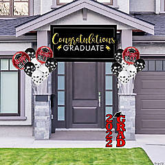 Red Graduation Outdoor Decorating Kit