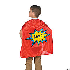 Red Graduation Superhero Cape