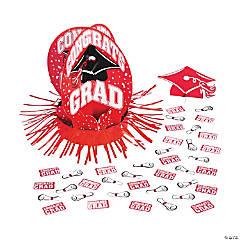 Red Graduation Table Decorating Kit