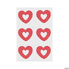 Red Heart Glitter Temporary Tattoos