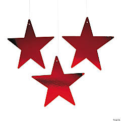 Red Large Metallic Stars