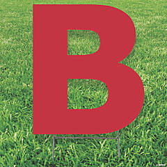 Red Letter B Yard Sign