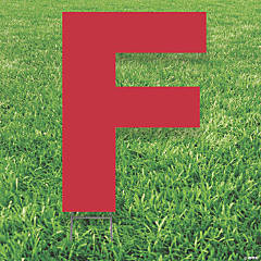 Red Letter F Yard Sign