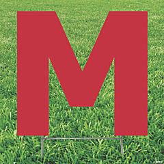 Red Letter M Yard Sign