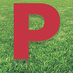 Red Letter P Yard Sign