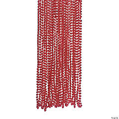 Red Metallic Beaded Necklaces