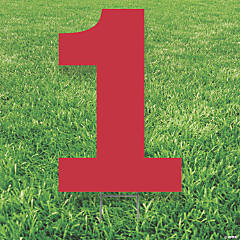 Red Number 1 Yard Sign